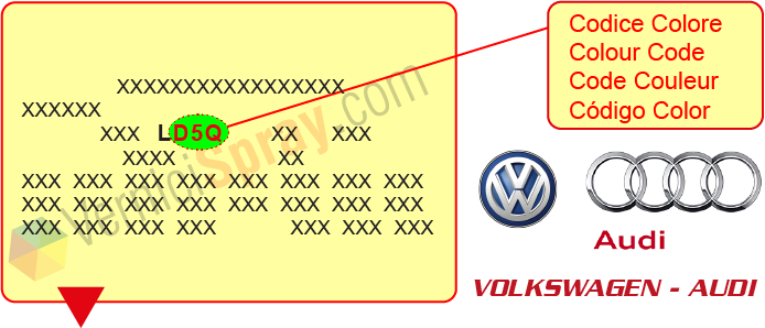 All Colour Codes for VOLKSWAGEN / AUDI